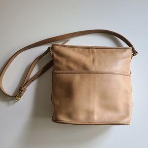 Vintage Tan Coach Bucket Hobo Bag
